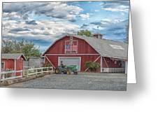 Red Flag Barn Greeting Card
