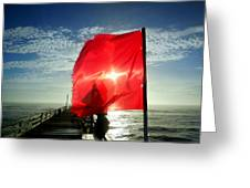 Red Flag Warning Sunrise 3 9/30 Greeting Card