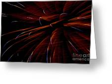 Red Flare Greeting Card