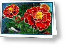 Red Flower In Autumn Greeting Card