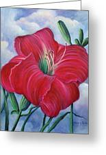 Red Flower Dreams Greeting Card