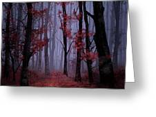 Red Forest 2 Greeting Card