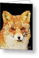 Red Fox Abstract Greeting Card