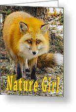 Red Fox Nature Girl Greeting Card