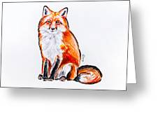 Red Foxie Greeting Card