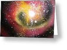 Red Galaxy Greeting Card