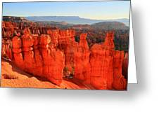 Red Glow In Bryce Canyon Greeting Card