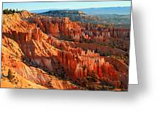 Red Glow On The Hoodoos Of Bryce Canyon Greeting Card