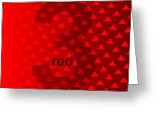 Red God Three Greeting Card