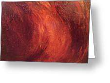 Red-gold Greeting Card