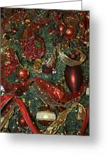 Red Gold Tree No 3 Fashions For Evergreens Event Hotel Roanoke 2009 Greeting Card