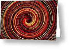Have A Closer Look. Red-golden Spiral Art Greeting Card