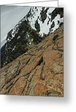 Red Granite Greeting Card