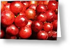 Red Grape Pano Greeting Card