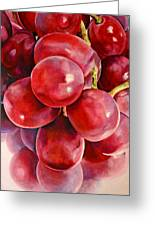 Red Grape Reflections Greeting Card