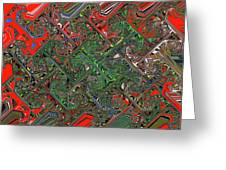 Red Green Blue Compressed Greeting Card