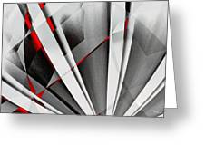 Red-grey Abstractum Greeting Card