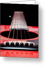 Red Guitar 16 Greeting Card