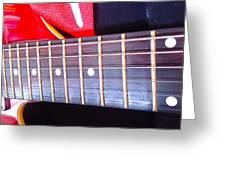 Red Guitar Neck Greeting Card