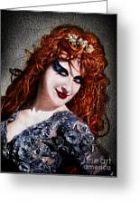 Red Hair, Gothic Mood. Model Sofia Metal Queen Greeting Card