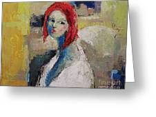 Red Haired Girl Greeting Card