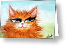 Red-haired Sofia The Cat Greeting Card