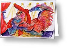 Red Hat Chick Fashion Greeting Card