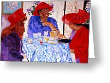 Red Hatters Chatter Greeting Card