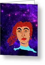 Red Head1 Greeting Card