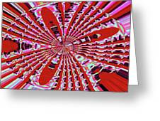 Red Heavy Screen Abstract Greeting Card