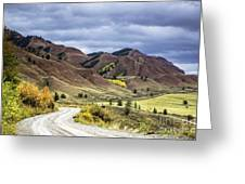 Red Hills Autumn Color Greeting Card