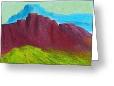 Red Hills Revisited. Greeting Card