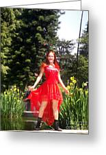 Red Hot - Ameynra Fashion By Sofia Metal Queen. Greeting Card