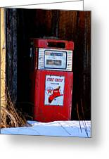 Red Hot Gasoline Greeting Card