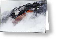Red Hot Lava And Steam Greeting Card