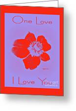 Red Hot Passion Flower Greeting Card