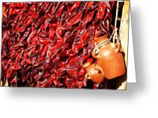 Red Hot Peppers Greeting Card