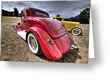 Red Hot Rod - 1930s Ford Coupe Greeting Card