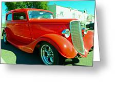 Red Hot Rod Greeting Card