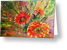 Red Hot Summer Flower Greeting Card