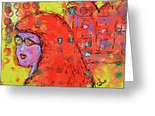 Red Hot Summer Girl Greeting Card