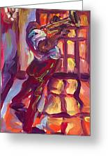 Red Hot Trumpet Greeting Card