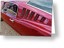 Red Hot Vents - Classic Fastback Mustang Greeting Card