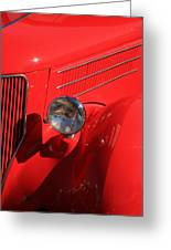 Red Hotrod Greeting Card