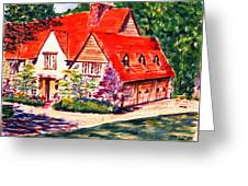 Red House In Clayton Greeting Card