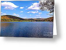 Red House Lake Allegany State Park Expressionistic Effect Greeting Card