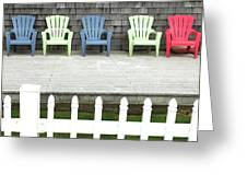 Red Hued Step-chair Greeting Card