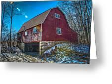 Red Indiana Barn Greeting Card