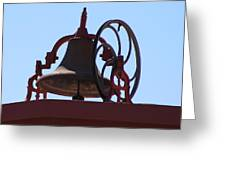 Red Iron Bell Greeting Card