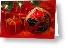 Red Is Christmas Greeting Card